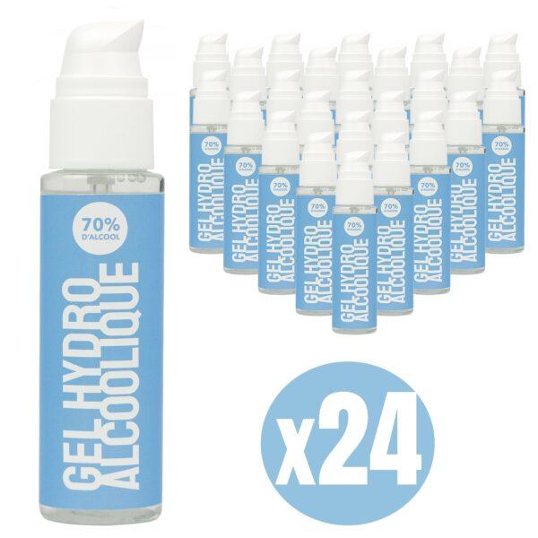 Gel hydroalcoolique 100 ml lot de 24
