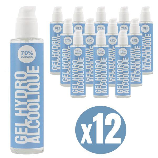 Gel hydroalcoolique 250 ml lot de 12