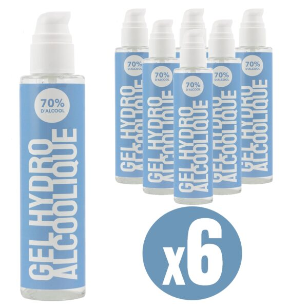 Gel hydroalcoolique 250 ml lot de 6