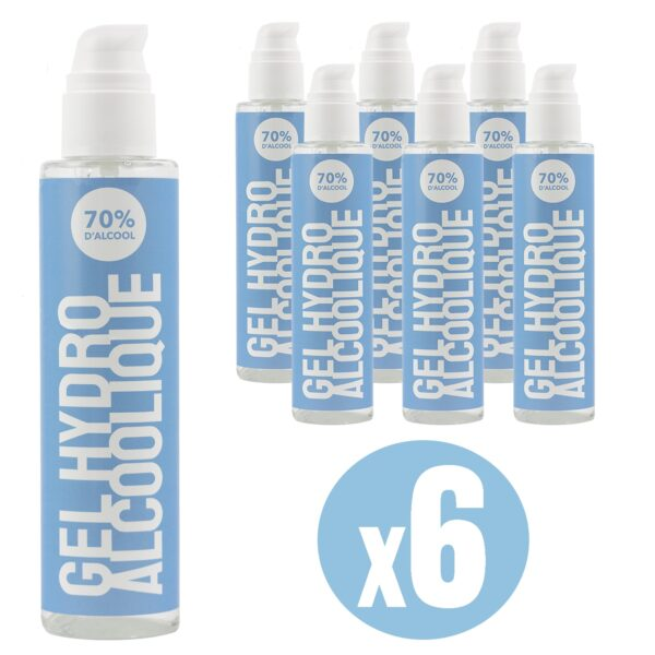 gel hydroalcoolique 500 ml lot de 6